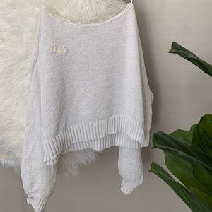 LC Lauren Conrad Sunflower Crop Sweater